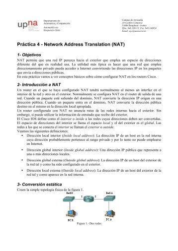 Práctica 4 - Network Address Translation (NAT)