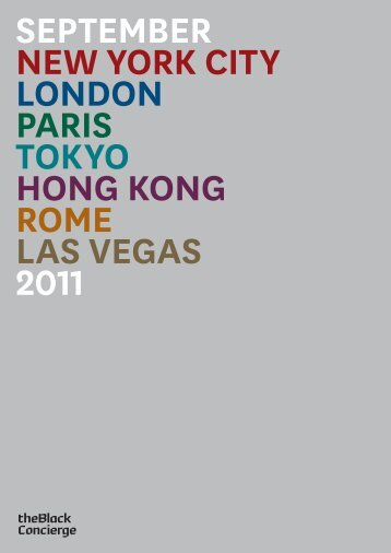 september new york city london paris tokyo hong ... - Laura Tennant