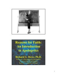 Reasons for Faith: An Introduction to Apologetics - Richard G. Howe