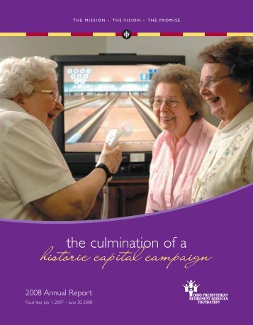 OPRS Foundation Annual Report - Ohio Presbyterian Retirement ...