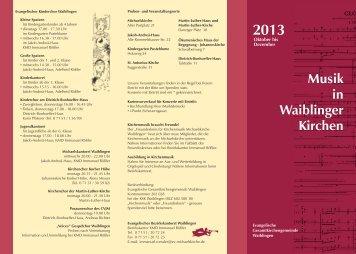 Halbjahresprogramm 2013-2 WMD - Evangelische Michaelskirche