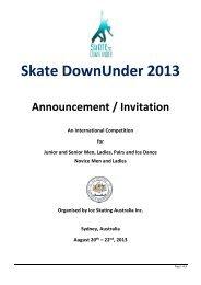 Skate Down Under 2013 - Ice Skating Australia
