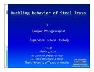 Bracing Behavior of Steel Trusses - The University of Texas at Austin