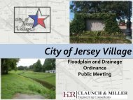 Floodplain and Drainage - The City of Jersey Village