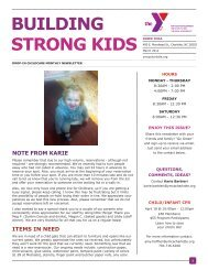 BUILDING STRONG KIDS - YMCA of Greater Charlotte