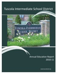 Annual Ed Report - Tuscola Intermediate School District