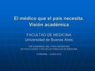 Dr. Torino Rocatagliata, Universidad de Buenos Aires