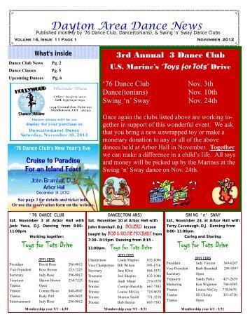 16 11 November 2012 Newsletter - Ballroom Dance Dayton