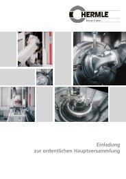 Tagesordnung - Maschinenfabrik Berthold Hermle AG