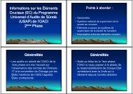Informations sur les Éléments Cruciaux - aci-africa.aero