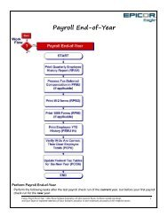 Payroll End-of-Year - Epicor