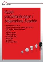 Kabel- verschraubungen / Allgemeines Zubehör - Bopla