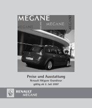 Preise und Ausstattung - Renault Kriegner
