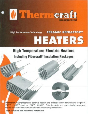 Ceramic Refractory Heaters - Thermcraft Inc.