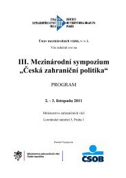 Kompletní Program III. Sympozia
