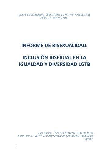 INFORME DE BISEXUALIDAD: INCLUSIÓN BISEXUAL EN ... - Xega