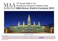 maa social events calendar 2012 - the Moot Alumni Association