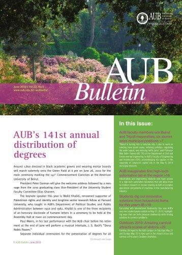 Bulletin - American University of Beirut