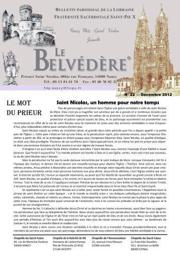 Le Belvédère n° 22 de décembre 2012 - La Porte Latine
