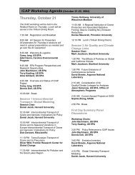 ICAP Workshop Agenda (October 21-22, 2004) Thursday, October 21