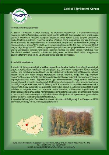 Zselici Tájvédelmi Körzet - Duna-Dráva Nemzeti Park