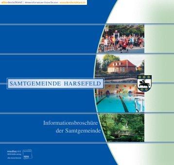Informationsbroschüre der Samtgemeinde - Samtgemeinde Harsefeld
