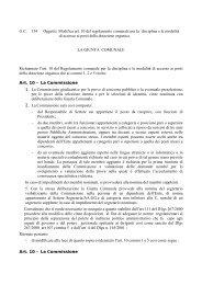 Modifica art. 10 del regolamento comunale per la disciplina e le ...