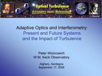 Why do AO & Interferometry - ForOT Optical Turbulence Forecasts