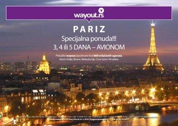 Specijalna ponuda!!! 3, 4 ili 5 DANA – AVIONOM - Wayout