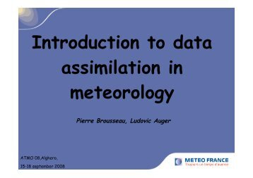 Introduction to data assimilation in meteorology - ForOT Optical ...