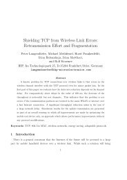 Shielding TCP from Wireless Link Errors ... - CiteSeerX