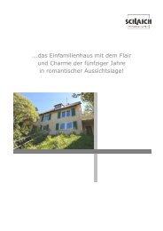 ...das Einfamilienhaus mit dem Flair und Charme der ... - Hans Jetter