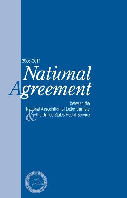 National Agreement 2006 2011 Nalc Branch 1100