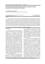 Physiological and Histopathological Alterations Induced by Phenol ...