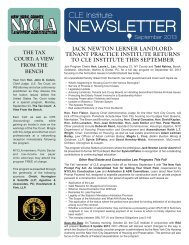 NEWSLETTER - New York County Lawyers' Association