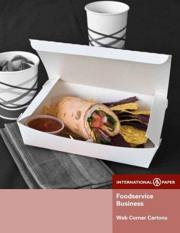 Web Corner Carton Sell Sheet - International Paper