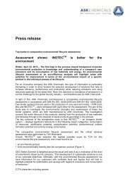 Press release - ASK Chemicals