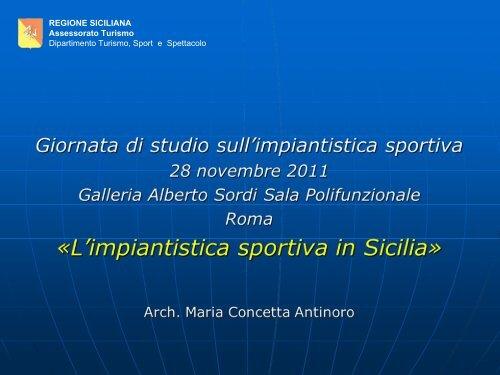 Ufficio Per Lo Sport.L Impiantistica Sportiva In Sicilia Ufficio Per Lo Sport