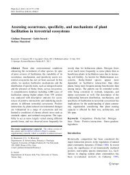 Assessing occurrence, specificity, and mechanisms of plant ...