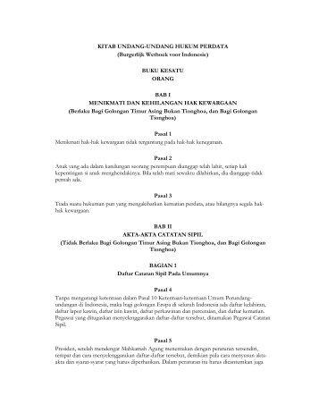 KITAB UNDANG-UNDANG HUKUM PERDATA (Burgerlijk Wetboek ...
