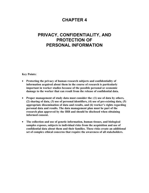 Privacy Confidentiality And Protection Of Personal Information