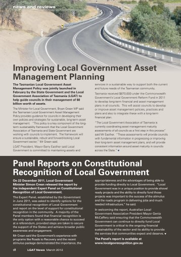 March 2012 - News and Reviews - Local Government Association of ...