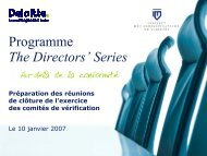 Programme The Directors' Series - Deloitte & Touche Canada