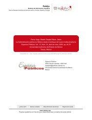 Redalyc. La Administración pública en México desde el enfoque del ...