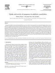 Uptake and toxicity of manganese in epiphytic ... - ResearchGate
