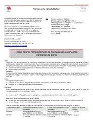 Primes à la réhabilitation Prime pour le remplacement ... - Proximedia
