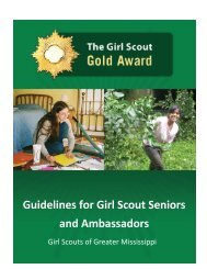 Girl Scout Gold Award Guidelines - Girl Scouts of Greater Mississippi