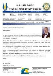 Rotary Bülten 1404 - Şişli Rotary Kulübü
