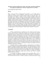 Métodos de avaliação da satisfação pós-compra: uma análise ...