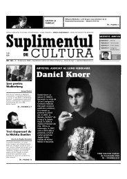 Daniel Knorr - Suplimentul de Cultura